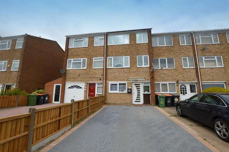 4 Bedrooms Town House for sale in Jardine Way, Dunstable, Bedfordshire, LU5 4AU