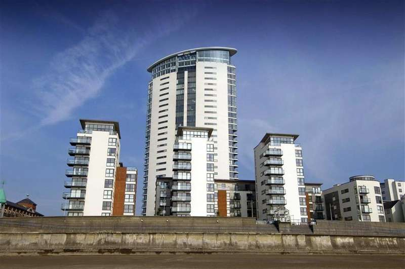 2 Bedrooms Apartment Flat for sale in Meridian Tower, Trawler Road, Swansea