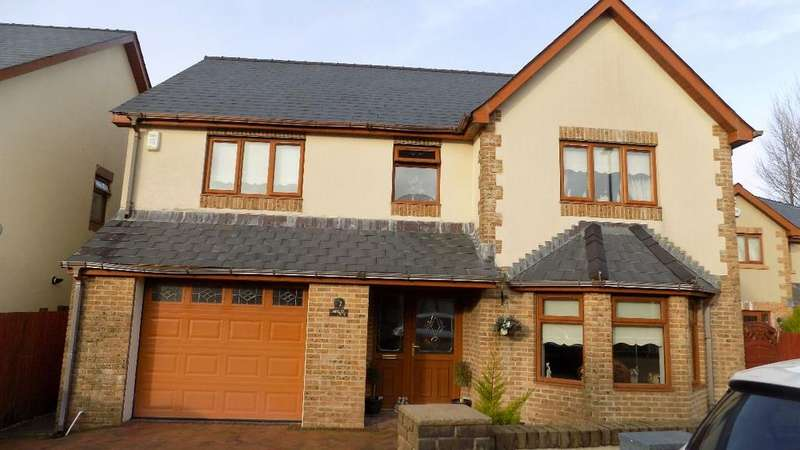 4 Bedrooms Detached House for sale in Siloam Close, Tafarnaubach, Tredegar. NP22 3AJ.