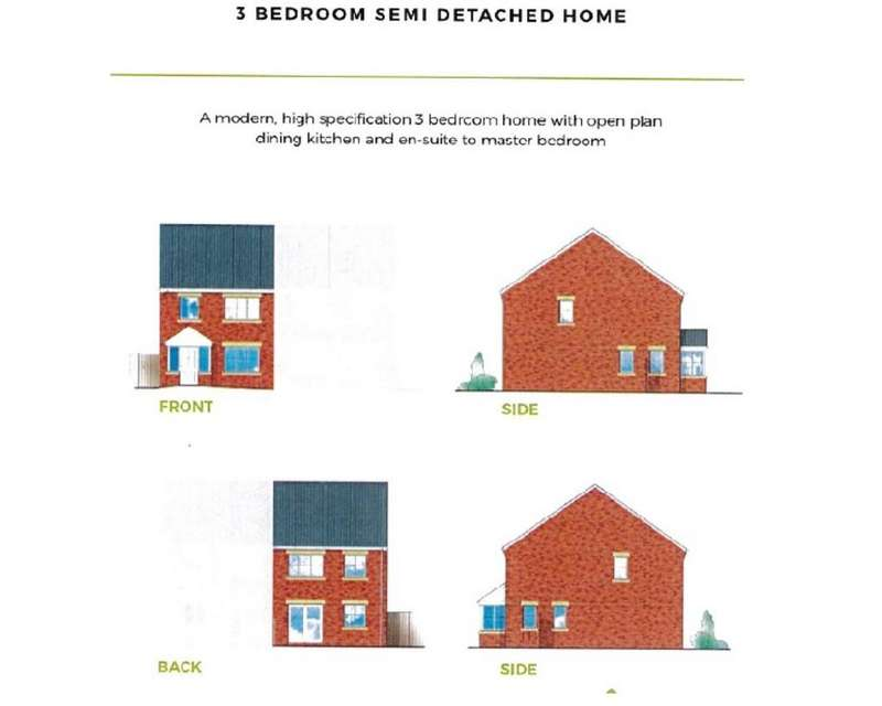 3 Bedrooms Semi Detached House for sale in Plot 6, Holywell, Wincobank, Sheffield
