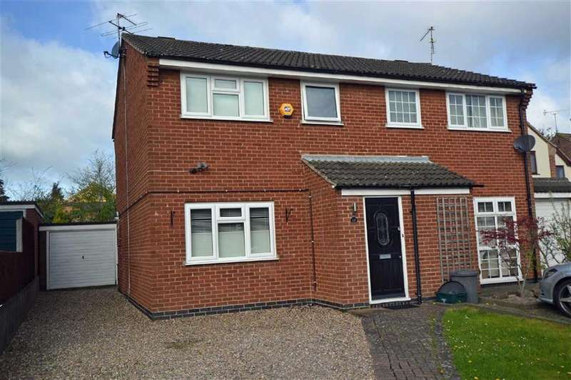 3 Bedrooms Semi Detached House for sale in Ludlow Close, Oadby