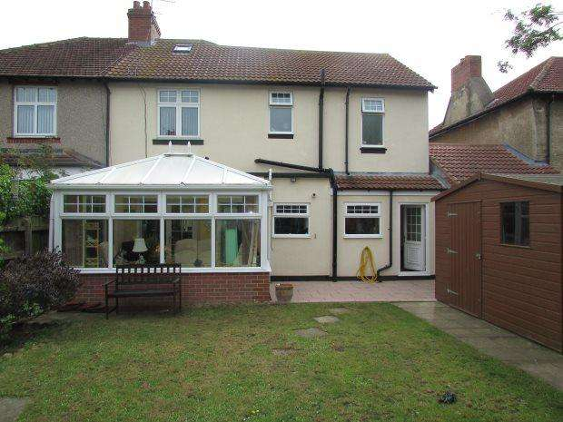 4 Bedrooms Semi Detached House for sale in WELLDECK ROAD, HART LANE, HARTLEPOOL