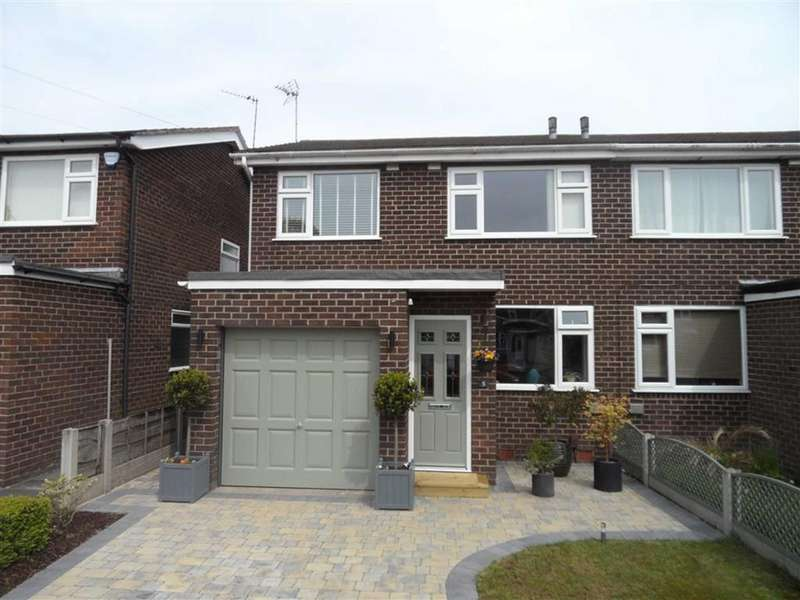 3 Bedrooms Semi Detached House for sale in Roseacre Drive, Heald Green
