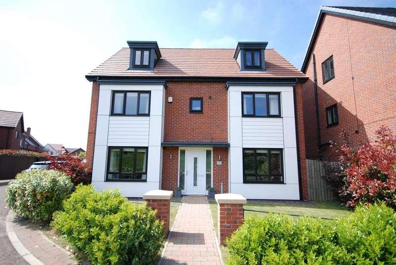 5 Bedrooms Detached House for sale in Abberwick Walk, Greenside, Newcastle