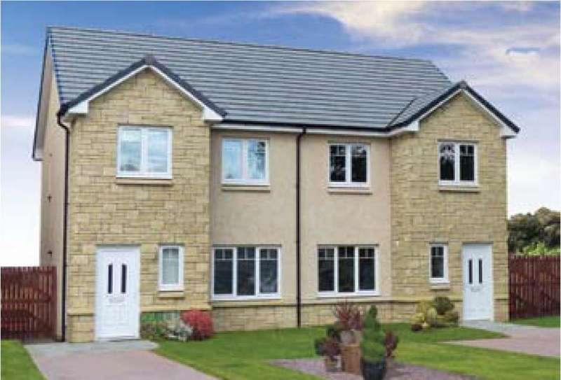 3 Bedrooms Semi Detached House for sale in Plot 61 Arrochar, Oaktree Gardens, Alloa, Stirling, FK10 1QY