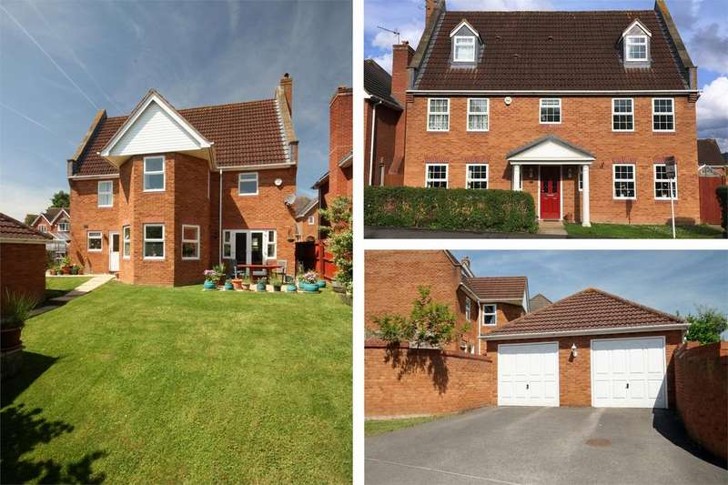 5 Bedrooms Detached House for sale in Horseshoe Way, Hempsted Grange, Hempsted, GLOUCESTER