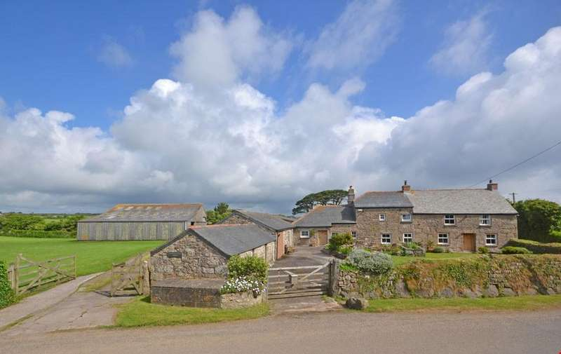 4 Bedrooms Detached House for sale in Paul, Nr. Mousehole, Penzance, West Cornwall, TR19
