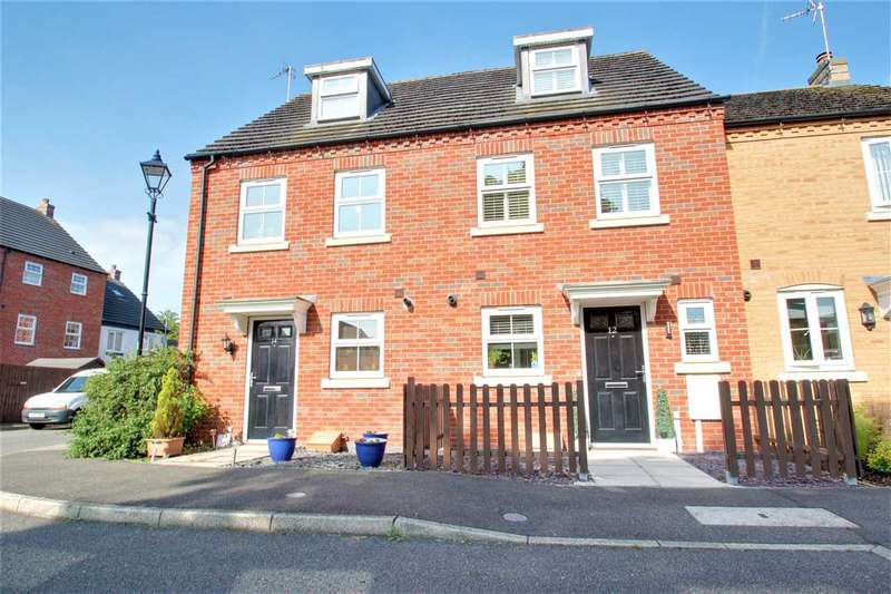 3 Bedrooms Terraced House for sale in Blackbird Way, Witham St. Hughs, Lincoln