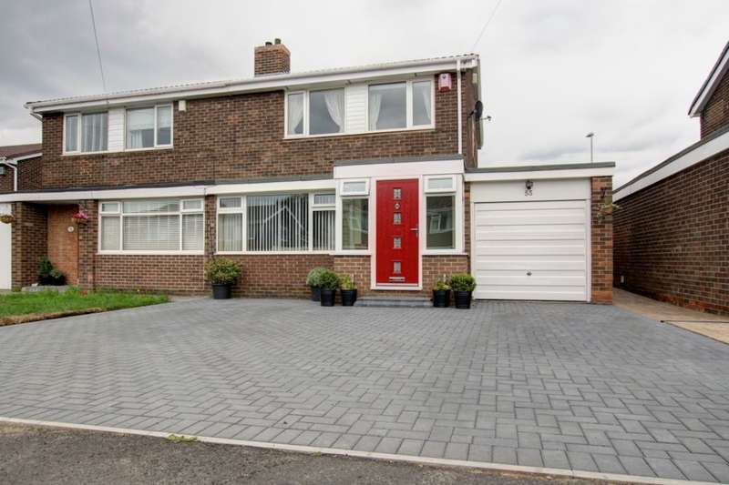 3 Bedrooms Semi Detached House for sale in Tantallon, Birtley, Chester Le Street, DH3