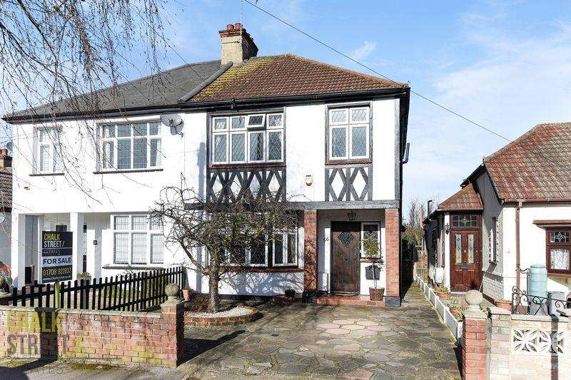 3 Bedrooms Semi Detached House for sale in Stanley Road, Hornchurch, RM12