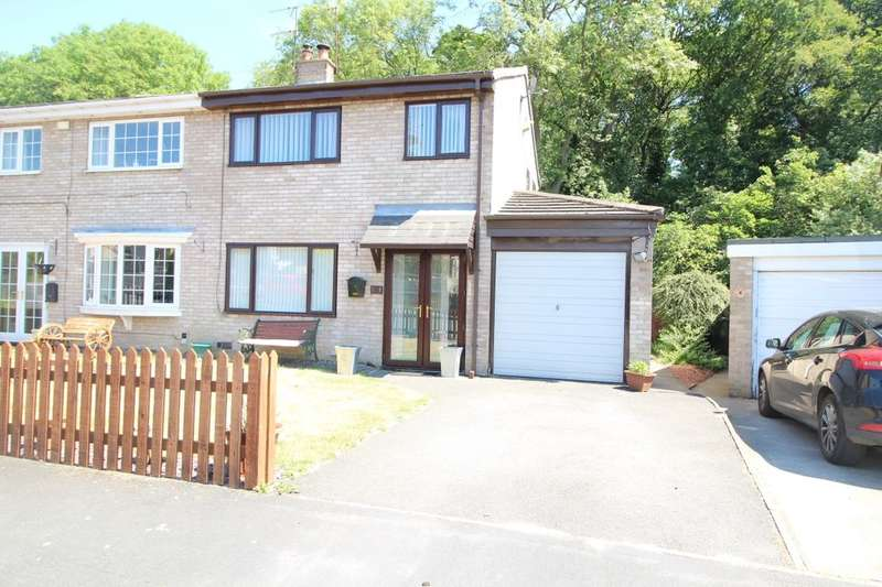 3 Bedrooms Semi Detached House for sale in Deneside, Howden Le Wear, Crook, DL15