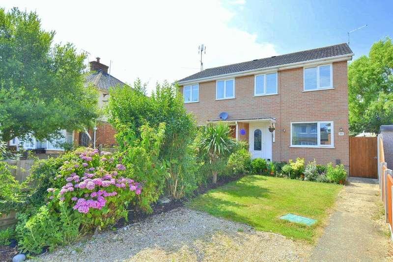 3 Bedrooms Semi Detached House for sale in Benmoor Road, Creekmoor, Poole, BH17 7DS