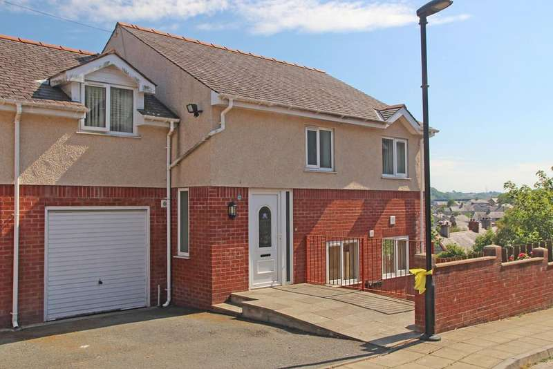 4 Bedrooms Semi Detached House for sale in Euston Road, Bangor, North Wales
