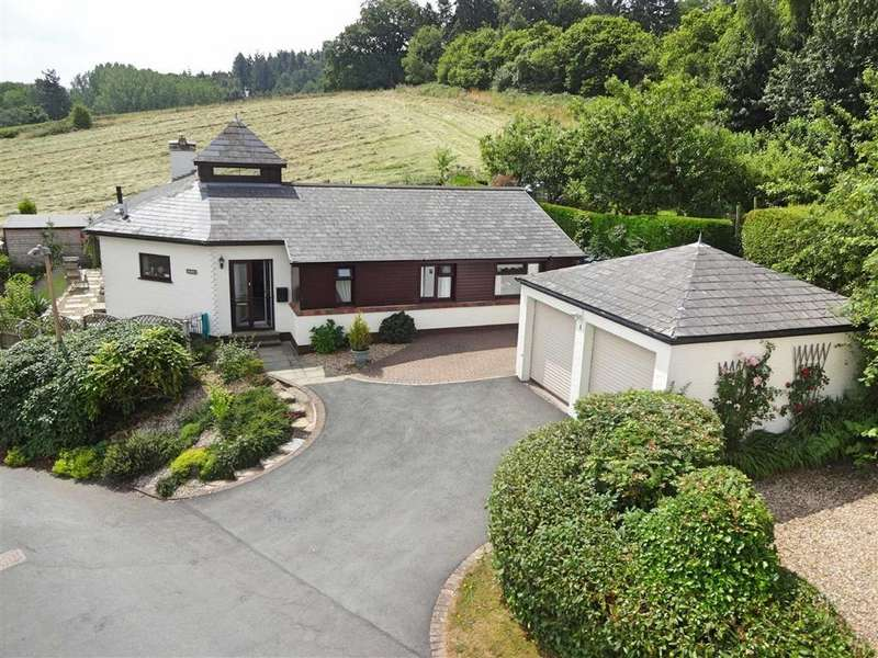 4 Bedrooms Detached Bungalow for sale in Belfry, 1, Uchel Dre, Kerry, Newtown, Powys, SY16