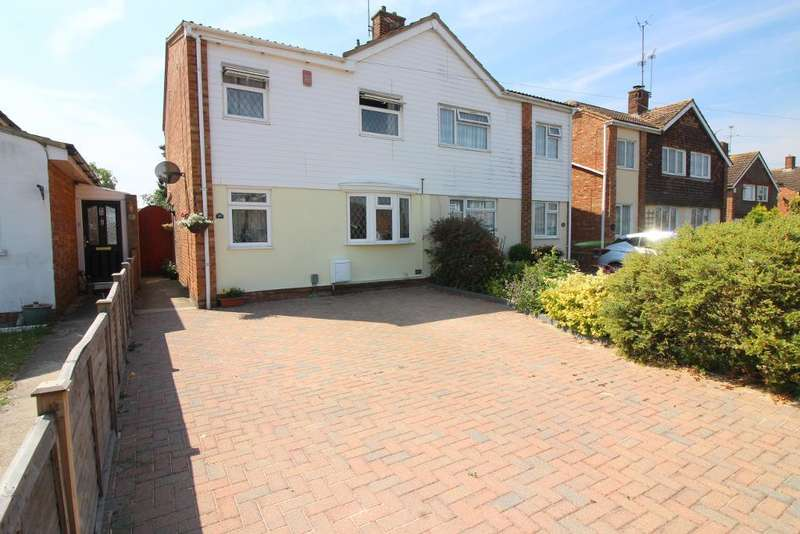 3 Bedrooms Semi Detached House for sale in Norman Road, Barton Le Clay, Bedfordshire, MK45 4QD