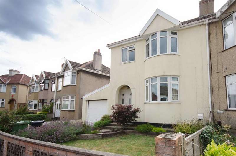 3 Bedrooms Semi Detached House for sale in Riviera Crescent, Staple Hill, Bristol, BS16 4SF