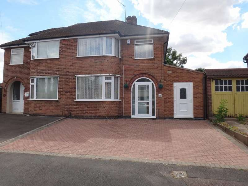 3 Bedrooms Semi Detached House for sale in Stonehurst Road, Braunstone, Leicester