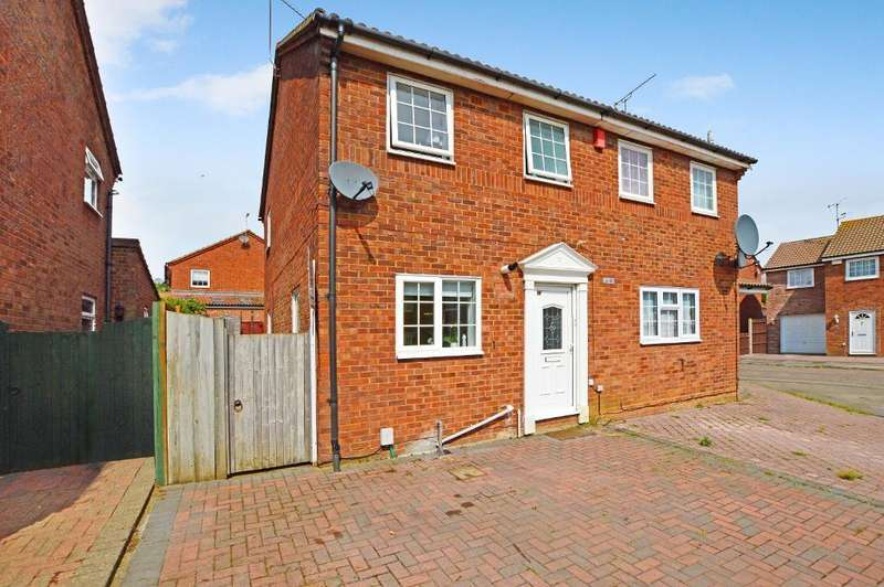 2 Bedrooms Semi Detached House for sale in Barnston Close, Wigmore, Luton, LU2 9RZ