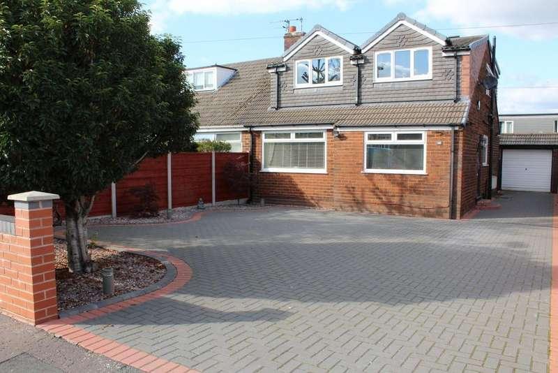 4 Bedrooms Semi Detached Bungalow for sale in Beechfield Road, Milnrow, Rochdale