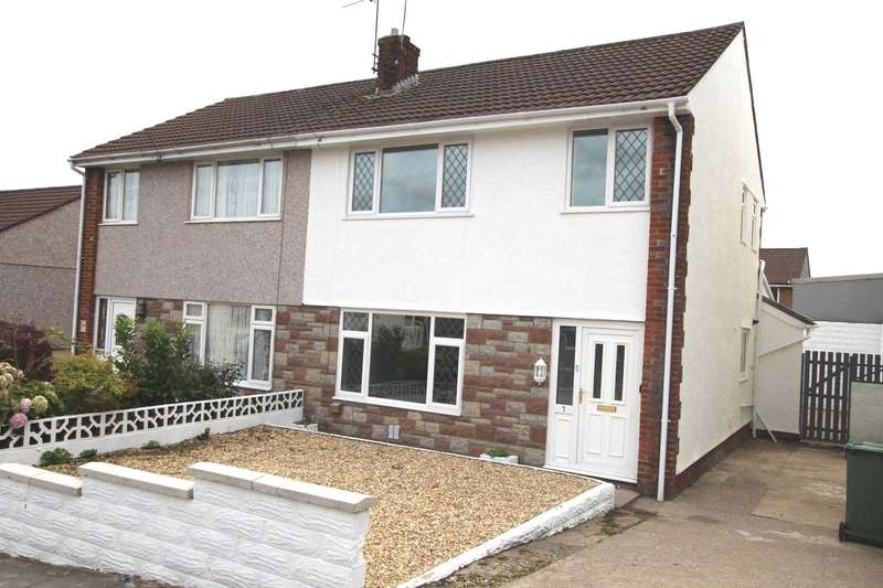 3 Bedrooms Semi Detached House for sale in Heol Y Clun, Beddau, CF38 2RL