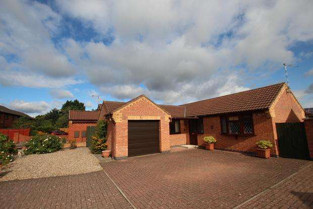 2 Bedrooms Detached Bungalow for sale in Brians Close, Syston, Leicester, LE7