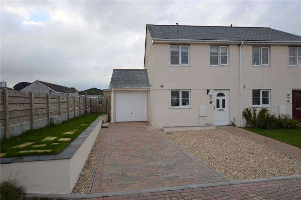 3 Bedrooms Semi Detached House for sale in Mathew Close, Moorland Road, Indian Queens, St. Columb