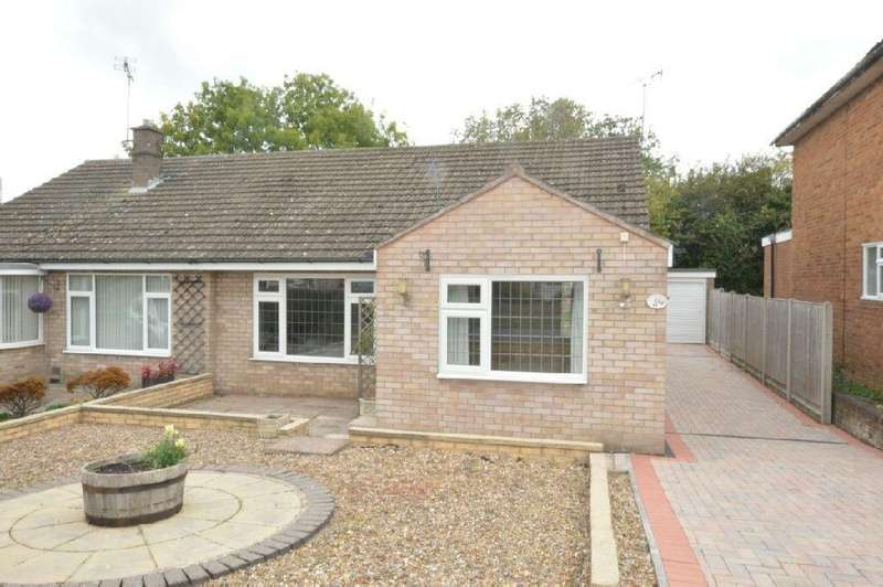 2 Bedrooms Semi Detached Bungalow for sale in Gwendoline Drive, Countesthorpe, Leicester