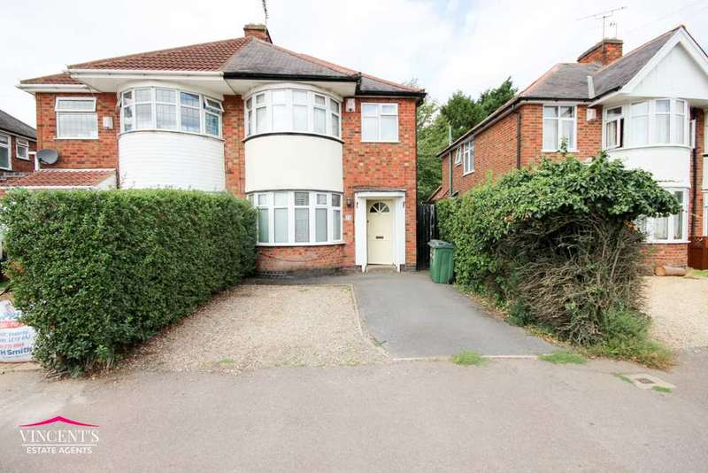 3 Bedrooms Semi Detached House for sale in Shakespeare Drive, Leicester