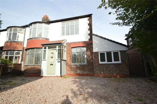 4 Bedrooms Semi Detached House for sale in Garners Lane, Davenport, Stockport, Cheshire