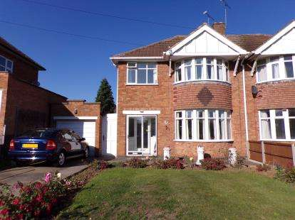 3 Bedrooms Semi Detached House for sale in Kingscliffe Crescent, Evington, Leicester, Leicestershire