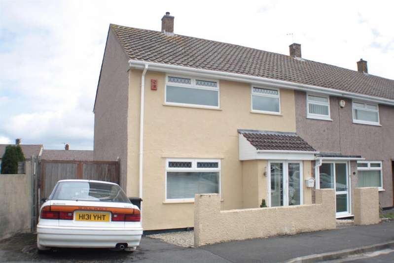3 Bedrooms End Of Terrace House for sale in Geoffrey Close, Highridge, Bristol, BS13 8BW