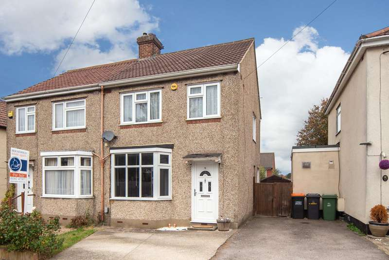 3 Bedrooms Semi Detached House for sale in Ridgeway Drive, Dunstable