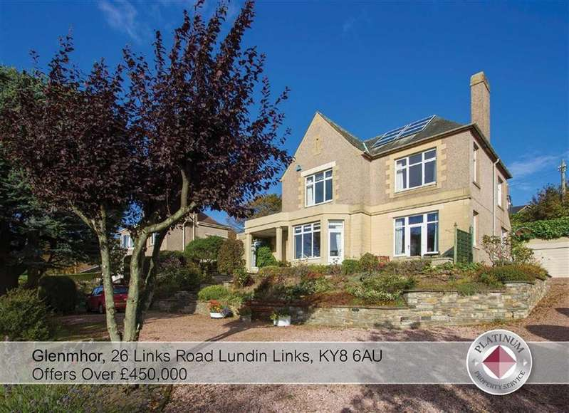 4 Bedrooms Detached House for sale in Glenmhor, 26, Links Road, Lundin Links, Fife, KY8