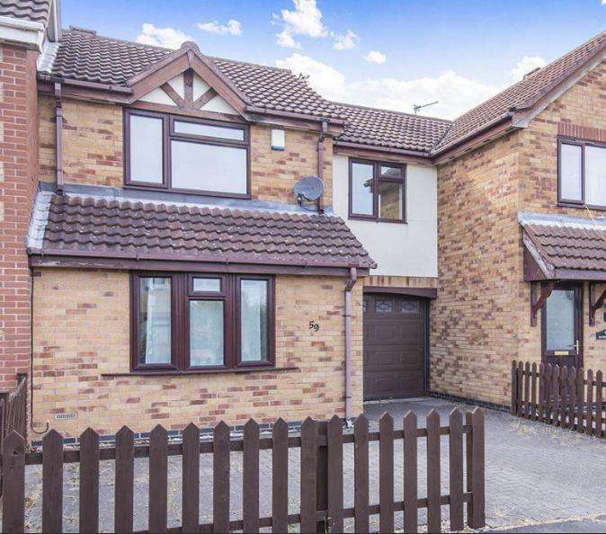 3 Bedrooms Town House for sale in Hazel Road, Loughborough