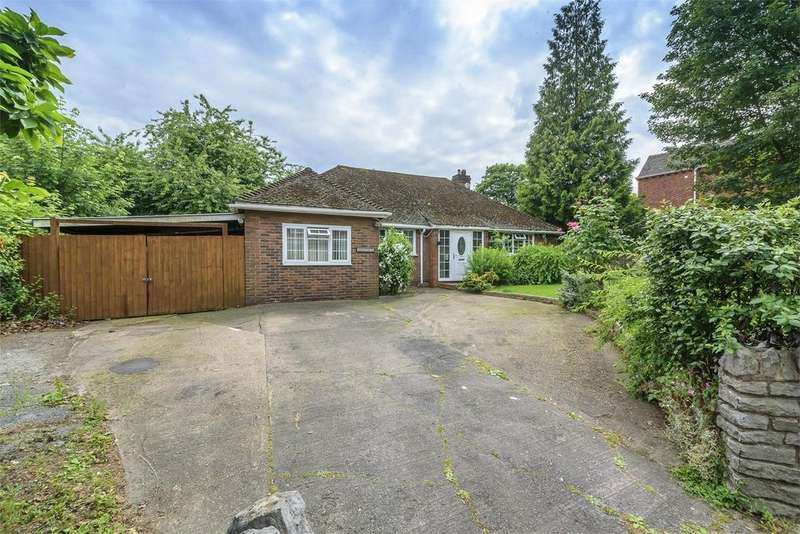 3 Bedrooms Detached Bungalow for sale in Greenfields, Park Avenue, Madeley, Telford, Shropshire