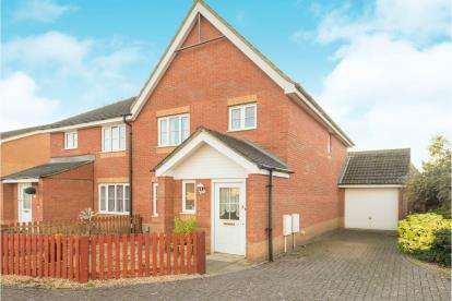 3 Bedrooms Semi Detached House for sale in Potter Way, Bedford, Bedfordshire