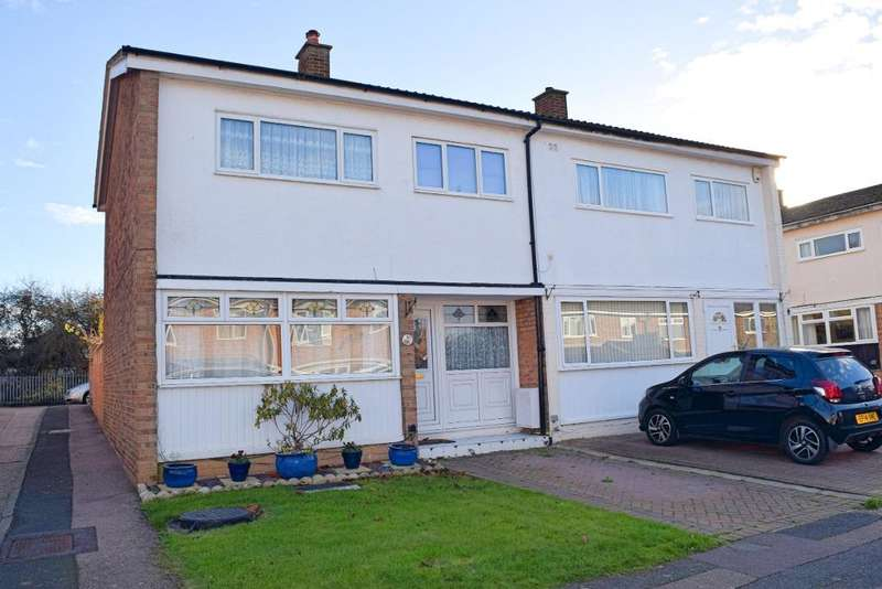3 Bedrooms Semi Detached House for sale in Church Leys, Harlow, Essex, CM18 6DA