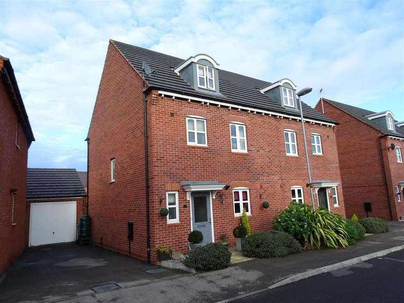 4 Bedrooms Semi Detached House for sale in Stonebridge Close, Ibstock, Leicestershire