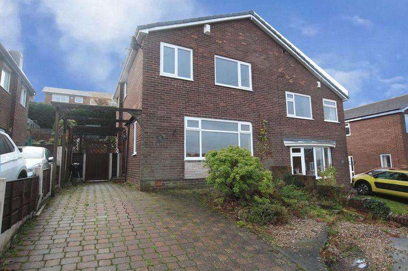 3 Bedrooms Semi Detached House for sale in Wordsworth Crescent, Smithy Bridge, Littleborough OL15 0RB