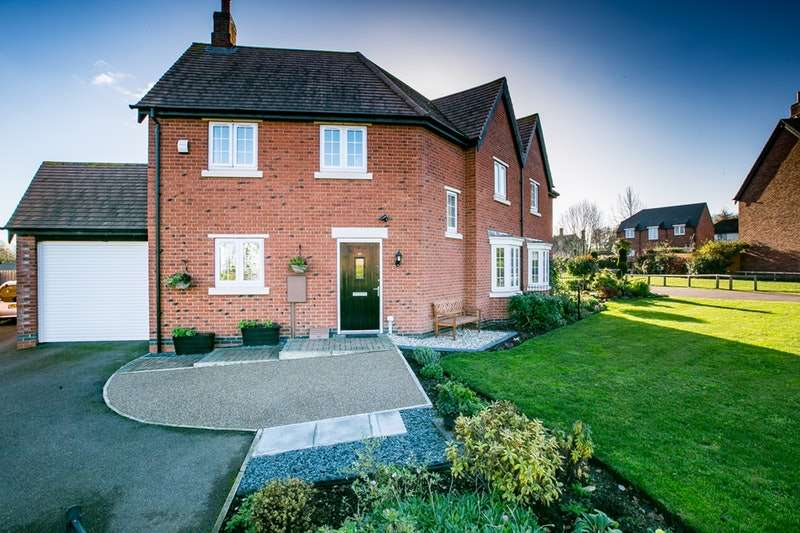 3 Bedrooms Semi Detached House for sale in Edward Phillipps Road, Loughborough, Leicestershire, LE12