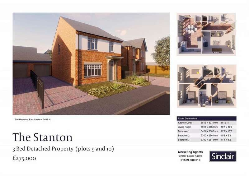 3 Bedrooms Detached House for sale in The Heavens - Porrit Close, East Leake, Leicestershire