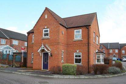4 Bedrooms Detached House for sale in Chatsworth Court, Staveley, Chesterfield, Derbyshire