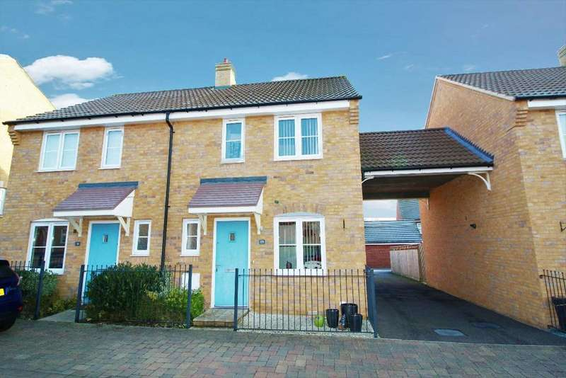2 Bedrooms Semi Detached House for sale in Meadfoot Place, Bedford MK41