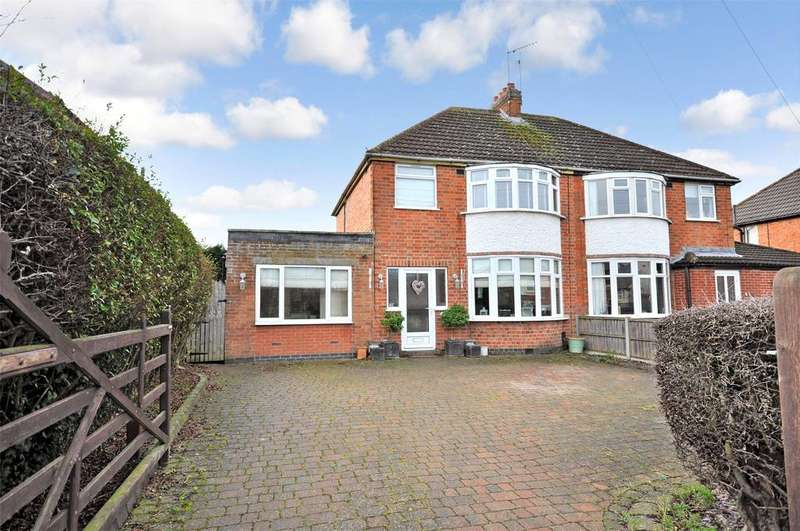 3 Bedrooms Semi Detached House for sale in Millstone Lane, Syston, Leicester