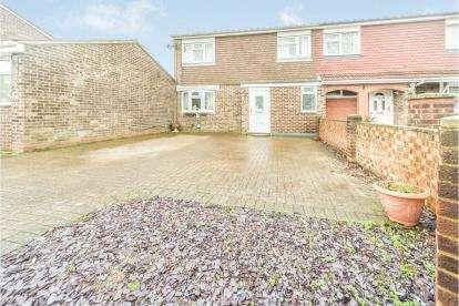 3 Bedrooms Semi Detached House for sale in Greskine Close, Goldington, Bedford, Bedfordshire
