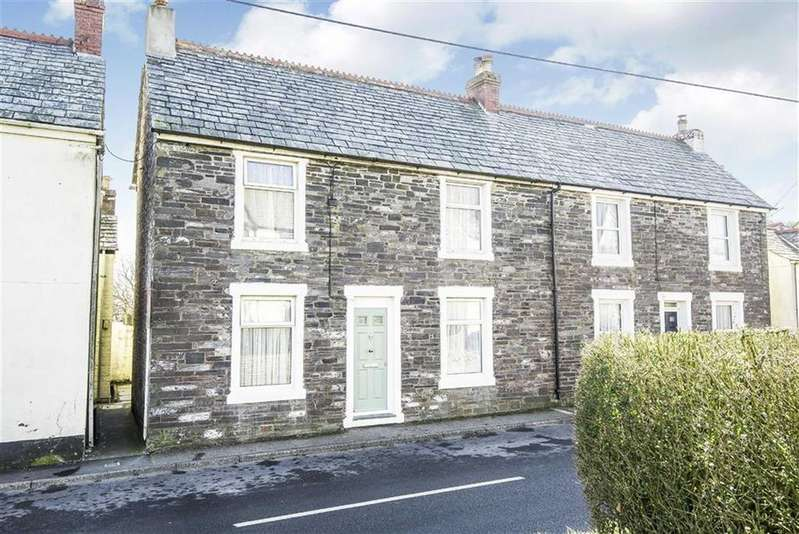 4 Bedrooms Semi Detached House for sale in High Street, Delabole, Cornwall, PL33