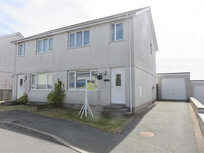 3 Bedrooms Semi Detached House for sale in Ty'n Rhos, Penysarn, Anglesey