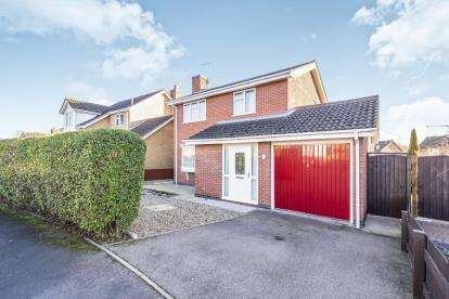 3 Bedrooms Detached House for sale in Archer Close, Loughborough, Leicestershire