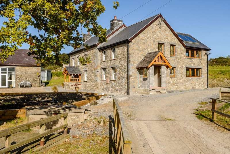 4 Bedrooms Farm House Character Property for sale in Broad Oak CARMARTHENSHIRE