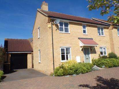 3 Bedrooms Semi Detached House for sale in Saltcote Way, Brickhill, Bedford, Bedfordshire